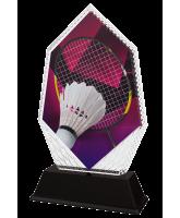 Cleo Badminton Racket and Shuttlecock Trophy