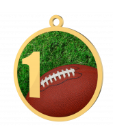American Football 1st Place Printed Gold Medal