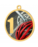 Cycling 1st Place Printed Gold Medal