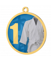 Martial Arts Blue 1st Place Printed Gold Medal