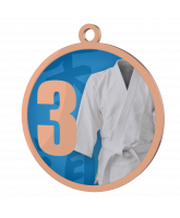 Martial Arts Blue 3rd Place Printed Bronze Medal