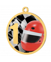 Motor Racing 1st Place Printed Gold Medal