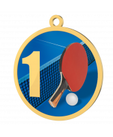 Table Tennis 1st Place Printed Gold Medal