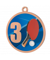 Table Tennis 3rd Place Printed Bronze Medal