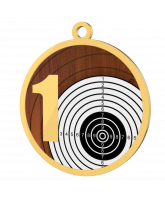 Target 1st Place Printed Gold Shooting Medal