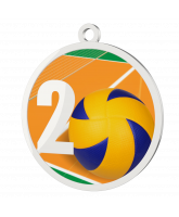 Volleyball 2nd Place Printed Silver Medal