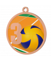 Volleyball 3rd Place Printed Bronze Medal