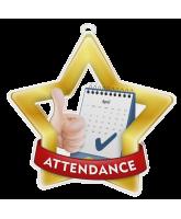 Attendance Mini Star Gold Medal