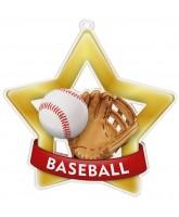 Baseball Mini Star Gold Medal