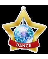Dance Glitterball Mini Star Gold Medal