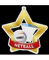 Netball Mini Star Gold Medal