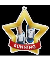 Running Mini Star Gold Medal