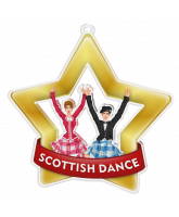 Scottish Dance Mini Gold Star Medal