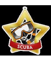 Scuba Diving Mini Star Gold Medal