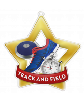 Track and Field Mini Star Gold Medal
