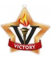 Victory Bronze Mini Star Medal