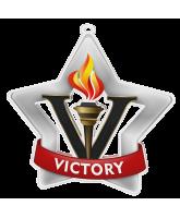 Victory Silver Mini Star Medal