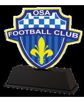 Football Custom Club Logo Acrylic Trophy