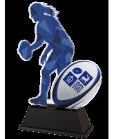 Ladies Rugby Custom Acrylic Logo Trophy