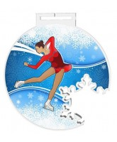 Odense Extra Large Ice Figure Skating Snowflake Medal