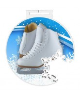 Odense Extra Large Ice Skating Boots Snowflake Medal