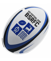 Rugby Ball Custom Club Logo Acrylic Medal