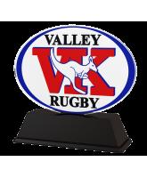 Rugby Custom Club Logo Acrylic Award