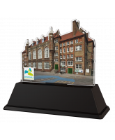 School Building Custom Acrylic Award