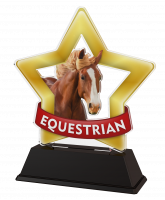 Mini Star Equestrian Horse Head Trophy