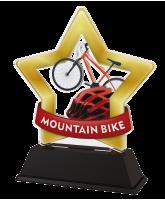 Mini Star Mountain Bike Cycling Trophy