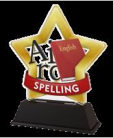 Mini Star Spelling Trophy