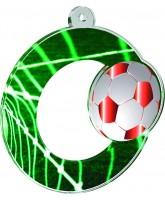Rio Football Acrylic Medal Bronze