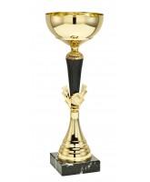Burbank Gold and Black Burst Logo Cup
