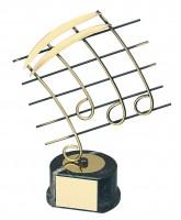Aragon Musical Notes Handmade Metal Trophy