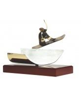 Aragon Snowboarding Handmade Metal Trophy