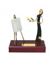 Barcelona Artist Handmade Metal Trophy
