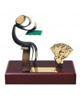Barcelona Poker & Card Game Handmade Metal Trophy