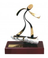 Barcelona Snowboarding Handmade Metal Trophy