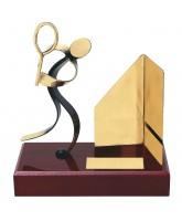 Barcelona Squash Handmade Metal Trophy