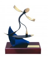 Barcelona Surfing Handmade Metal Trophy