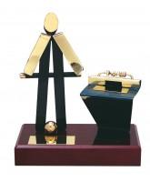 Barcelona Table Football Handmade Metal Trophy