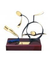 Barcelona Triathlon Handmade Metal Trophy