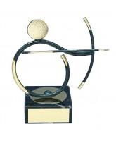 Bilbao Archery Player Handmade Metal Trophy