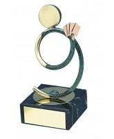 Bilbao Card Player Handmade Metal Trophy