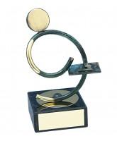 Bilbao Dominoes Player Handmade Metal Trophy