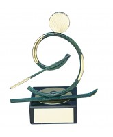 Bilbao Skiing Handmade Metal Trophy