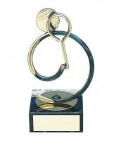 Bilbao Squash Player Handmade Metal Trophy