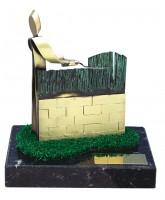 Gardening Handmade Metal Trophy