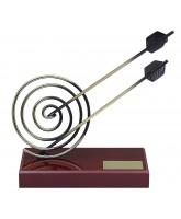 Granada Archery Arrows Handmade Metal Trophy