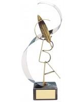 Lewis Literature Handmade Metal Trophy